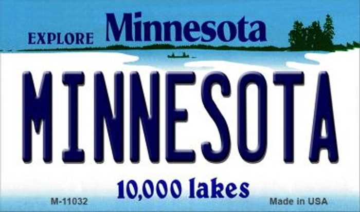 Minnesota State License Plate Novelty Magnet M-11032