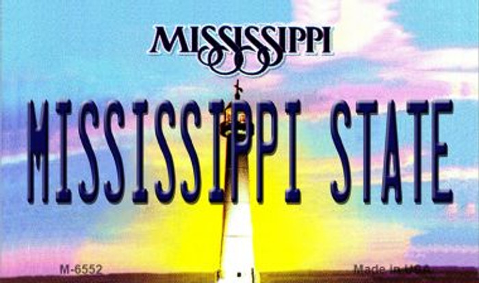 Mississippi State University License Plate Magnet M-6552