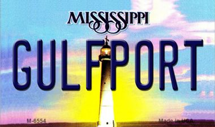 Gulfport Mississippi State License Plate Magnet M-6554