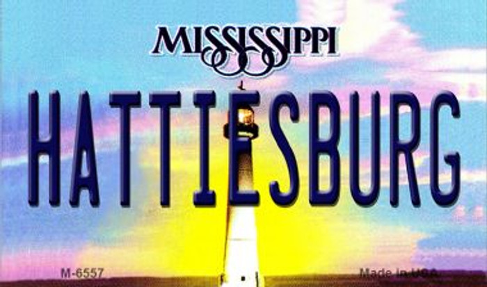 Hattiesburg Mississippi State License Plate Magnet M-6557