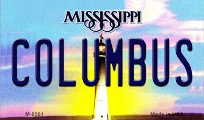 Columbus Mississippi State License Plate Magnet M-6561