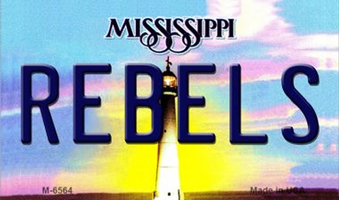 Rebels Mississippi State License Plate Magnet M-6564