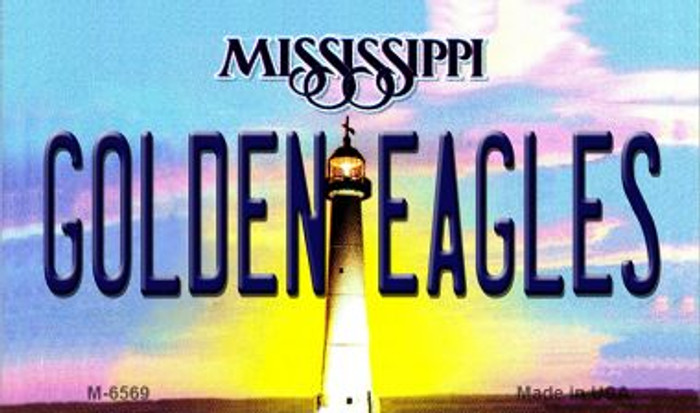 Golden Eagles Mississippi State License Plate Magnet M-6569