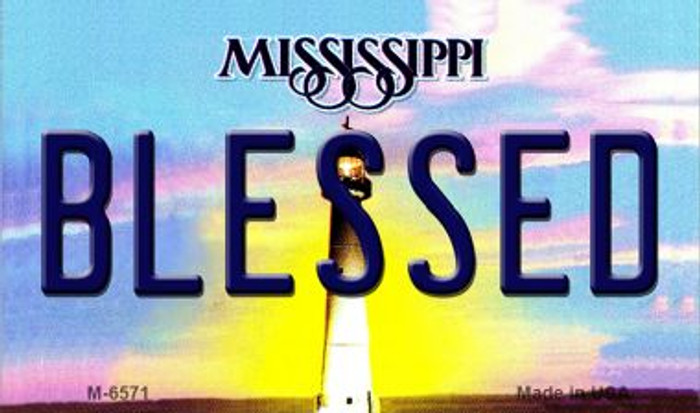 Blessed Mississippi State License Plate Magnet M-6571