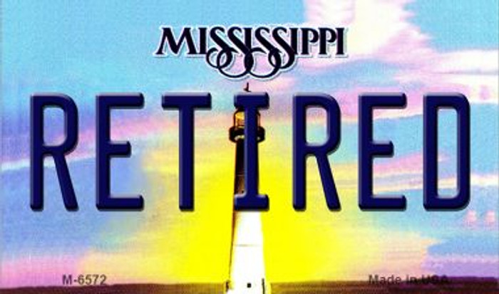 Retired Mississippi State License Plate Magnet M-6572