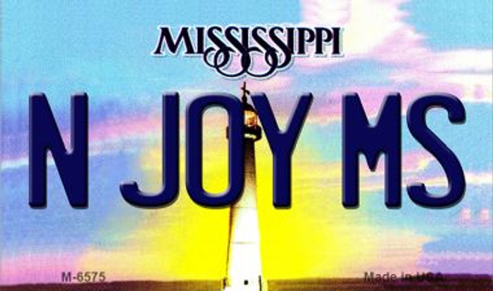 N Joy MS Mississippi State License Plate Magnet M-6575