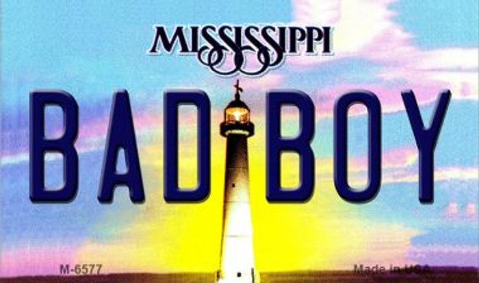 Bad Boy Mississippi State License Plate Magnet M-6577