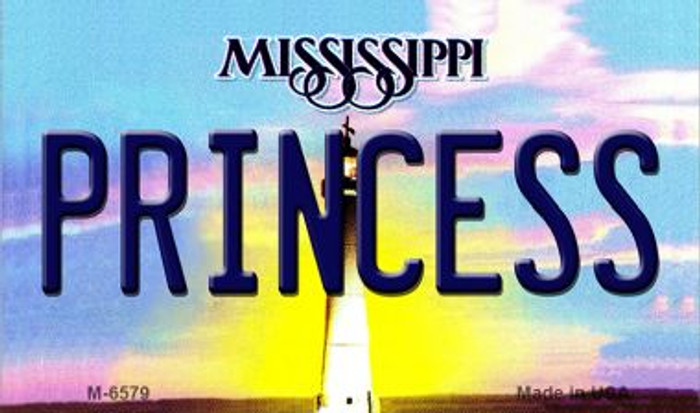 Princess Mississippi State License Plate Magnet M-6579