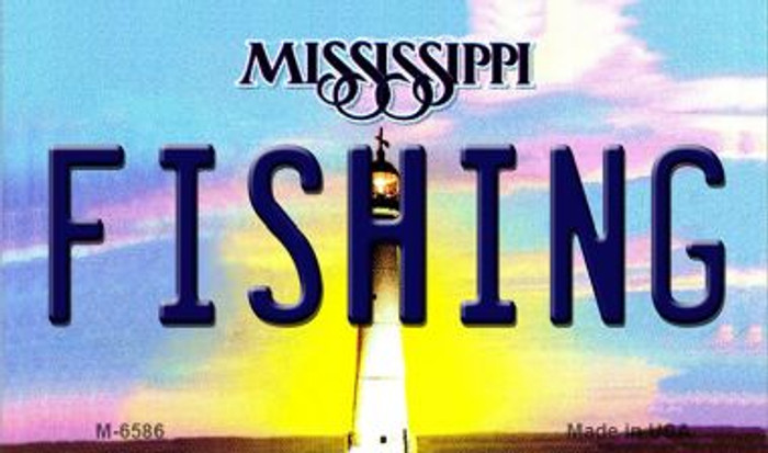 Fishing Mississippi State License Plate Magnet M-6586