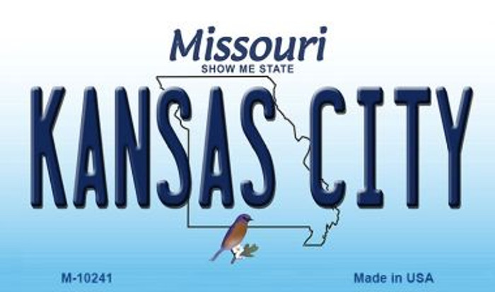 Kansas City Missouri State License Plate Magnet M-10241