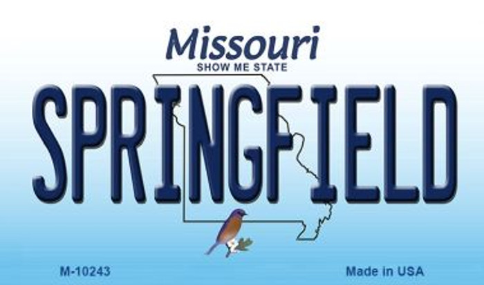Springfield Missouri State License Plate Magnet M-10243