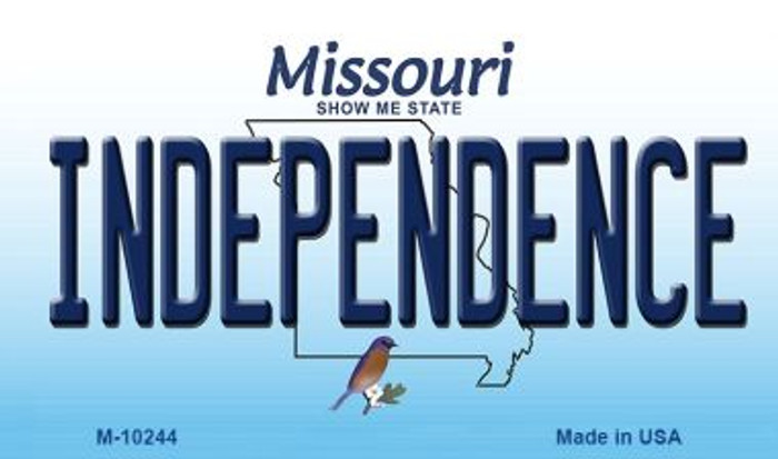 Independence Missouri State License Plate Magnet M-10244