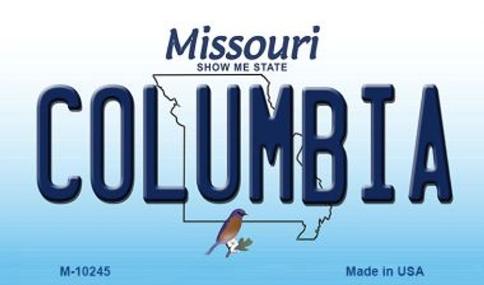 Columbia Missouri State License Plate Magnet M-10245