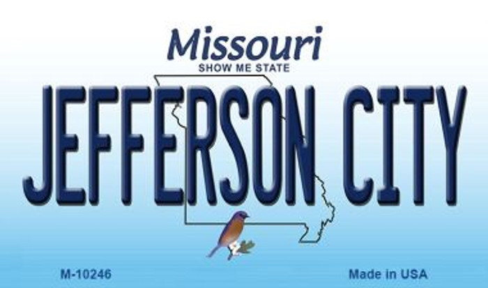 Jefferson City Missouri State License Plate Magnet M-10246