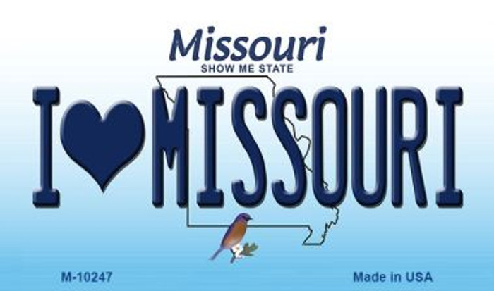 I Love Missouri Missouri State License Plate Magnet M-10247