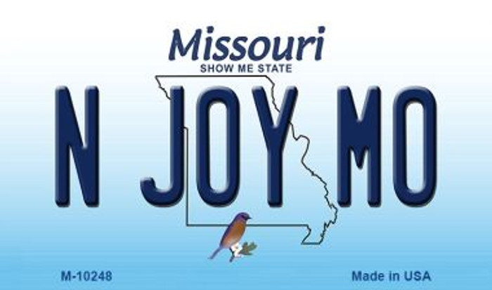 N Joy MO Missouri State License Plate Magnet M-10248