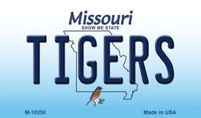 Tigers Missouri State License Plate Magnet M-10250