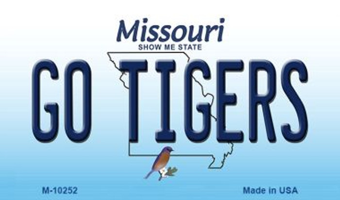 Go Tigers Missouri State License Plate Magnet M-10252