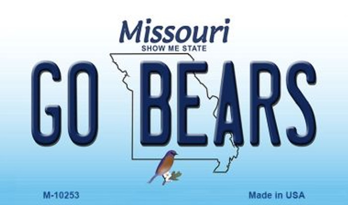 Go Bears Missouri State License Plate Magnet M-10253
