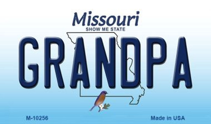 Grandpa Missouri State License Plate Magnet M-10256