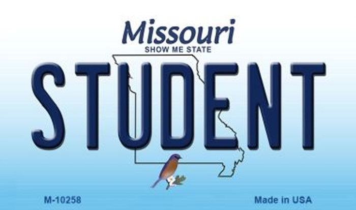 Student Missouri State License Plate Magnet M-10258