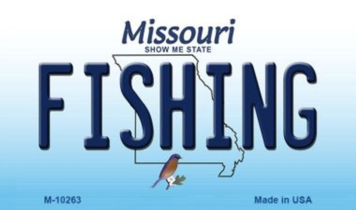 Fishing Missouri State License Plate Magnet M-10263