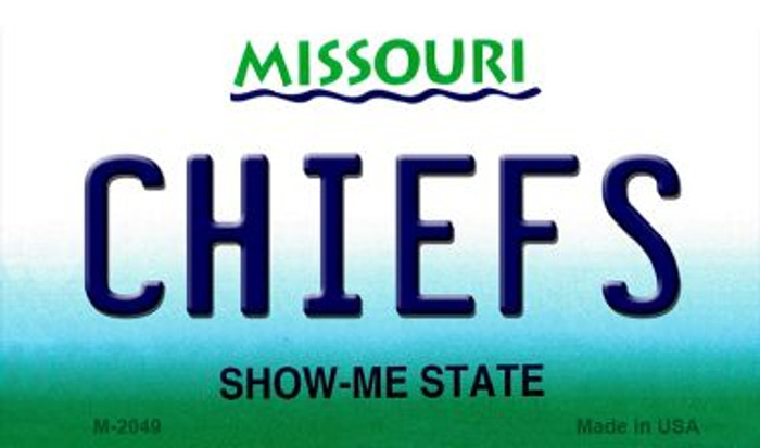 Chiefs Missouri State License Plate Magnet M-2049