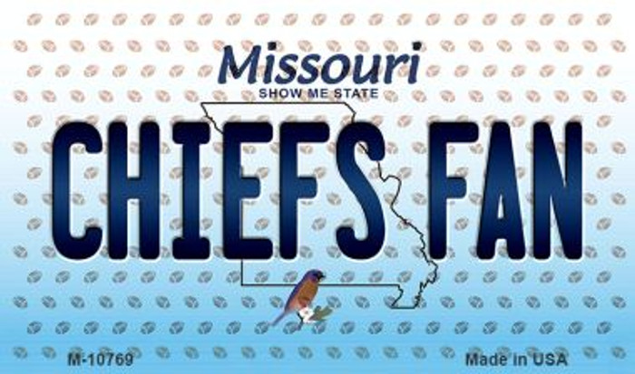 Chiefs Fan Missouri State License Plate Magnet M-10769