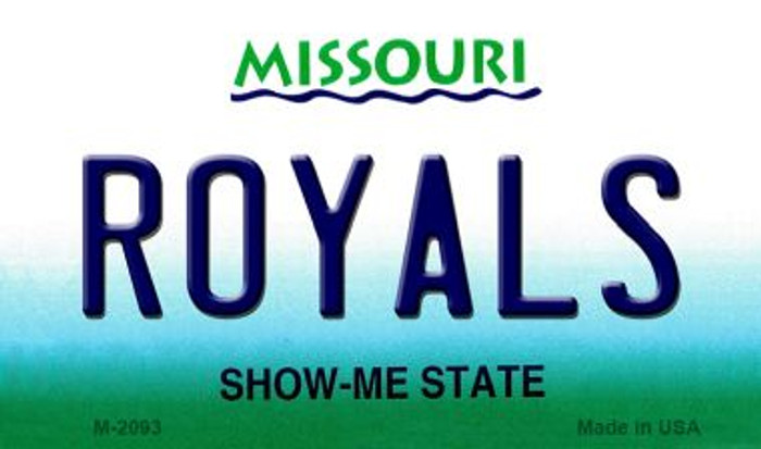 Royals Missouri State License Plate Magnet M-2093
