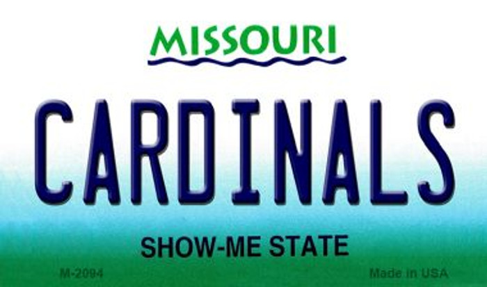 Cardinals Missouri State License Plate Magnet M-2094