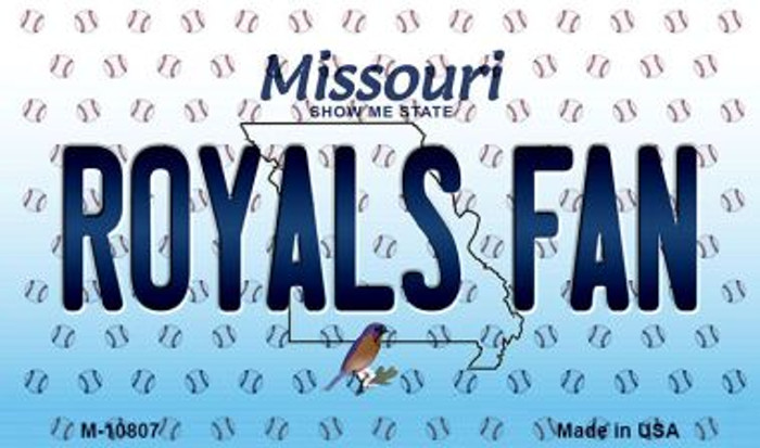 Royals Fan Missouri State License Plate Magnet M-10807