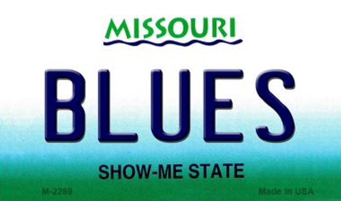 Blues Missouri State License Plate Magnet M-2289