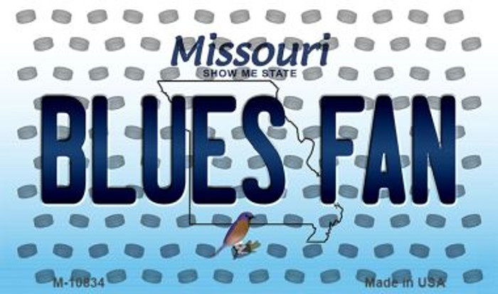 Blues Fan Missouri State License Plate Magnet M-10834