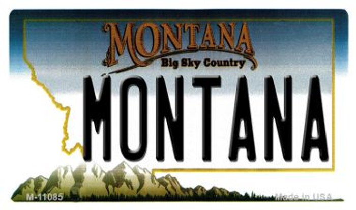 Montana State License Plate Novelty Magnet M-11085