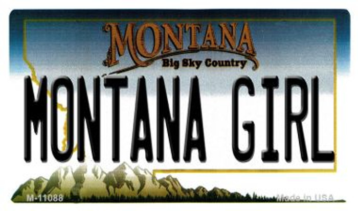 Montana Girl State License Plate Novelty Magnet M-11088