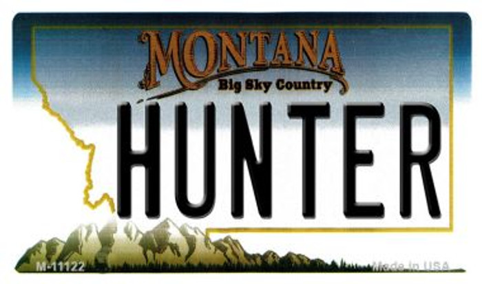 Hunter Montana State License Plate Novelty Magnet M-11122