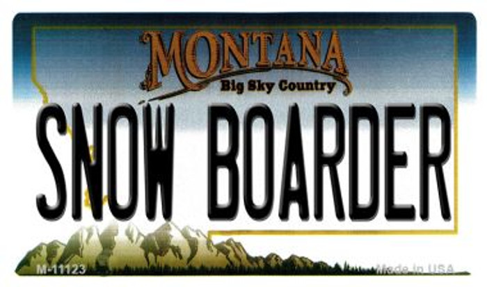 Snow Boarder Montana State License Plate Novelty Magnet M-11123