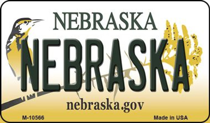 Nebraska State License Plate Magnet M-10566