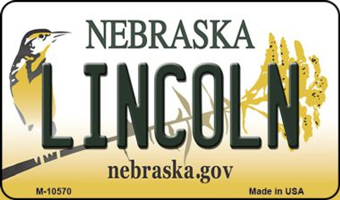 Lincoln Nebraska State License Plate Magnet M-10570