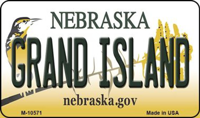Grand Island Nebraska State License Plate Magnet M-10571