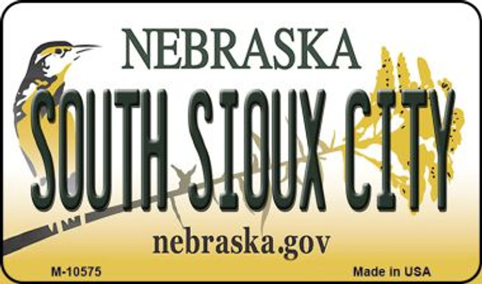 South Sioux City Nebraska State License Plate Magnet M-10575
