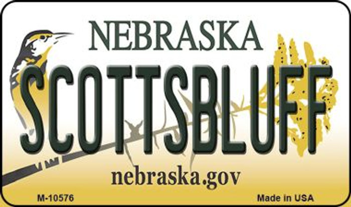 Scottsbluff Nebraska State License Plate Magnet M-10576