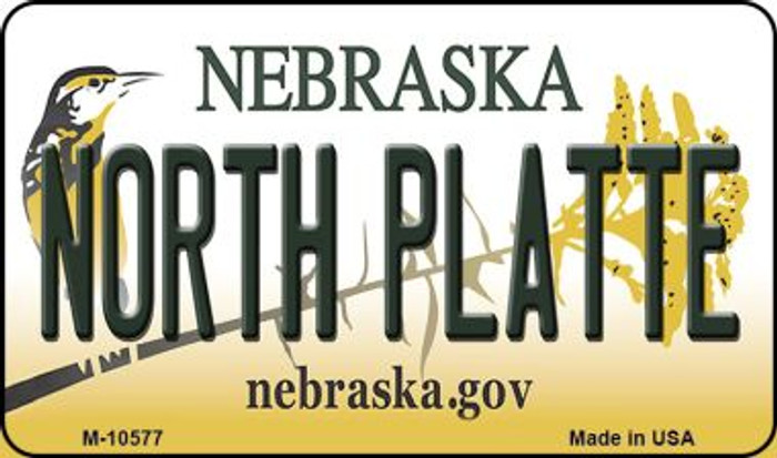North Platte Nebraska State License Plate Magnet M-10577