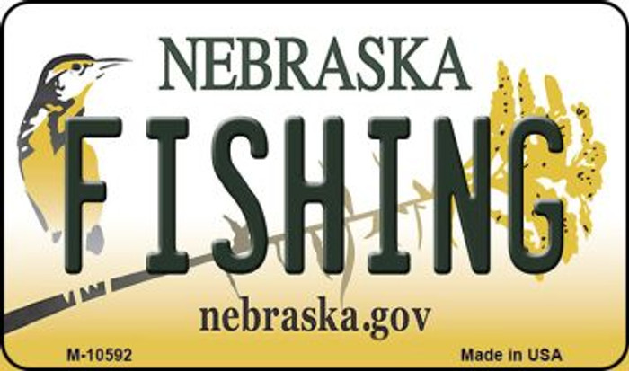 Fishing Nebraska State License Plate Magnet M-10592