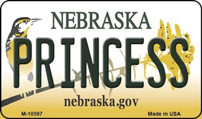 Princess Nebraska State License Plate Magnet M-10597