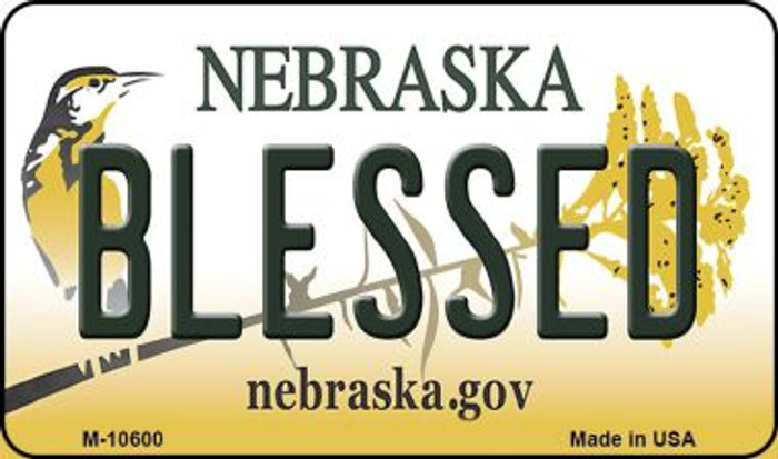 Blessed Nebraska State License Plate Magnet M-10600