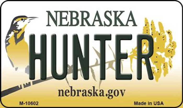Hunter Nebraska State License Plate Magnet M-10602