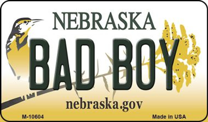 Bad Boy Nebraska State License Plate Magnet M-10604