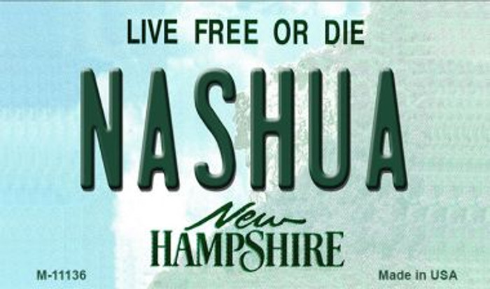 Nashua New Hampshire State License Plate Magnet M-11136