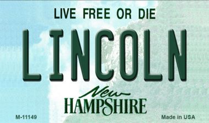 Lincoln New Hampshire State License Plate Magnet M-11149